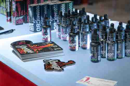 Some of the products seen at USA CBD Expo