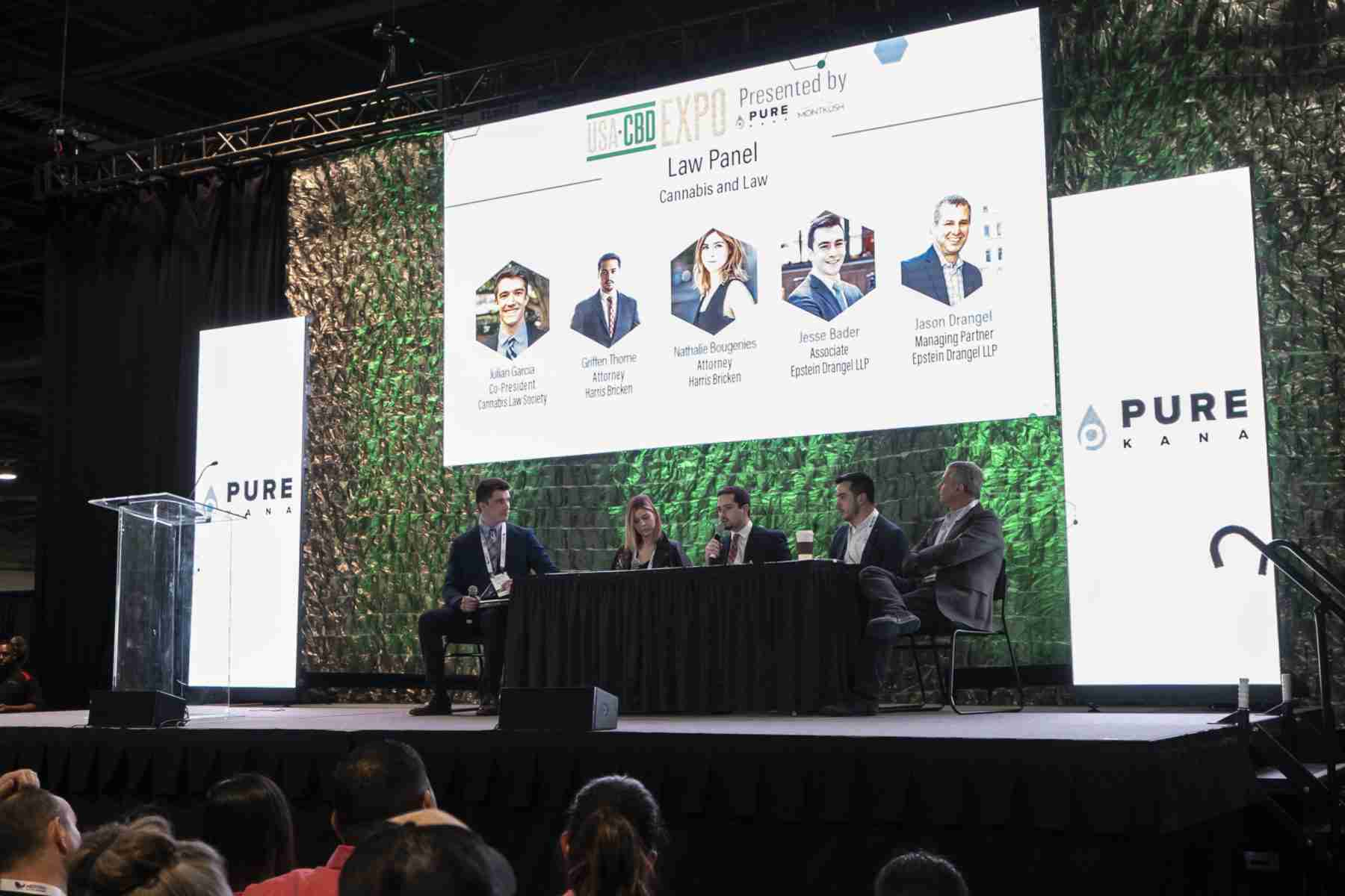 Law panel at the stage of USA CBD Expo in Las Vegas